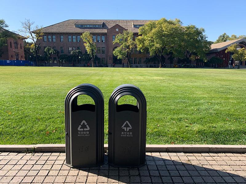 北京清华大学垃圾桶安装项目