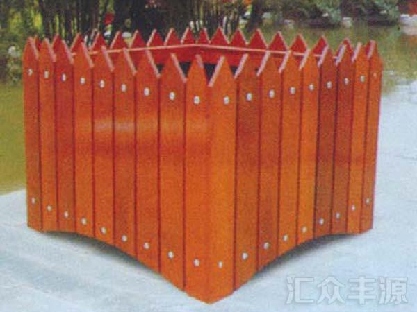北京紫竹院公园木制花箱施工项目