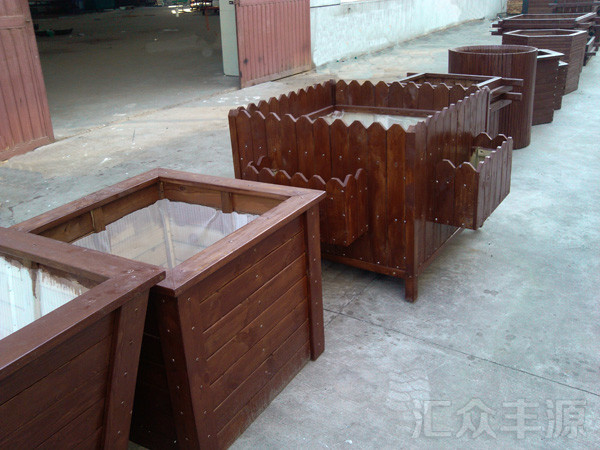 北京景山公园户外花箱安装项目