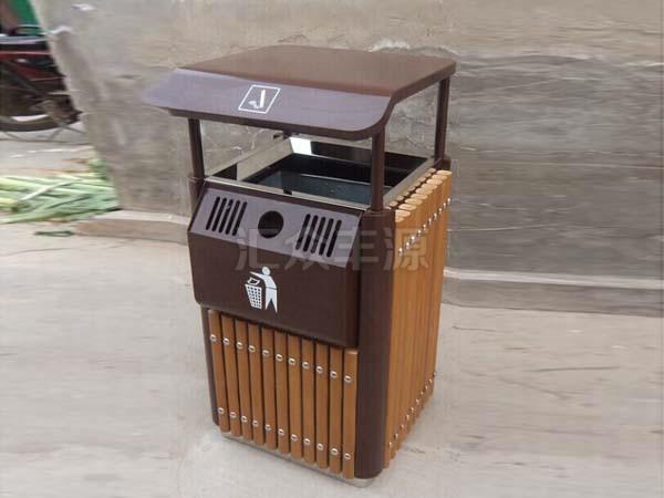 木制垃圾桶HZFY-MZ49