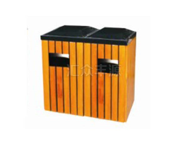 钢木结合垃圾桶HZFY-GMJH44