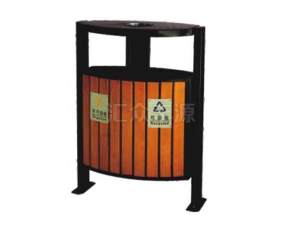 钢木结合垃圾桶HZFY-GMJH45