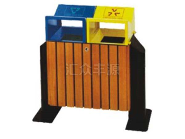 钢木结合垃圾桶HZFY-GMJH46