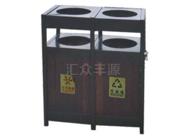 钢木结合垃圾桶HZFY-GMJH47