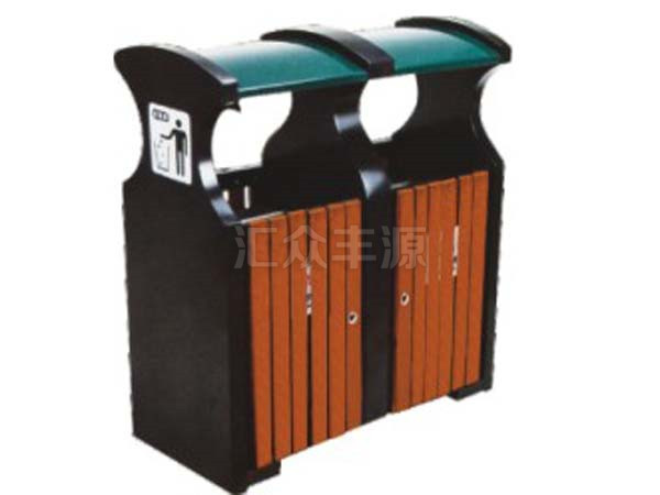 钢木结合垃圾桶HZFY-GMJH48