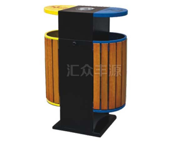 钢木结合垃圾桶HZFY-GMJH49