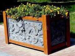 龙形图案木花箱HX98