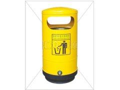 小黄人黄色不锈钢单桶垃圾桶