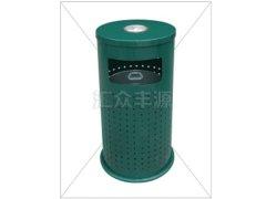 深绿色单桶不锈钢垃圾桶