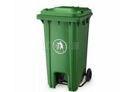 120L绿色脚踏塑料垃圾桶
