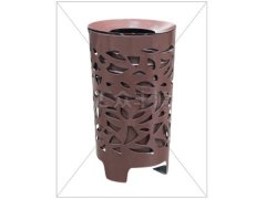 镂空花瓣单桶不锈钢垃圾桶