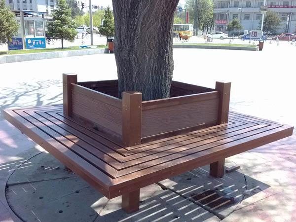 玉渊潭公园围树椅施工安装项目