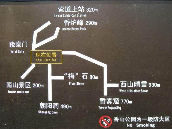 香山公园景区导视牌安装工程