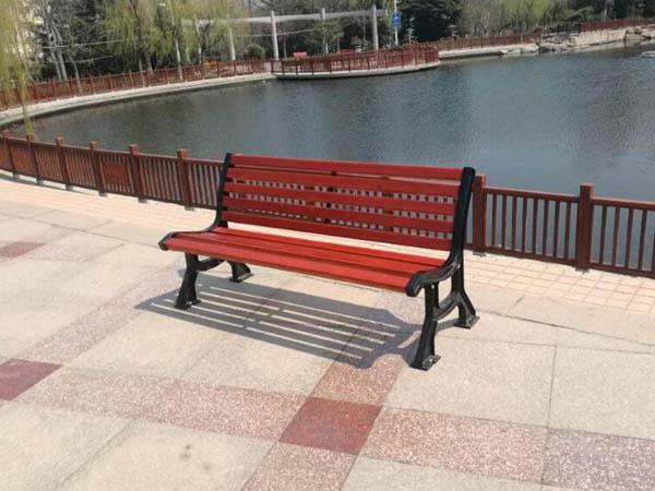 中山公园户外休闲椅安装项目