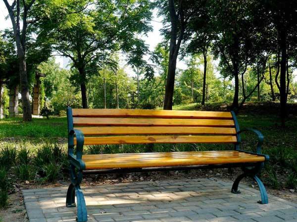 北京朝阳区四得公园户外座椅项目