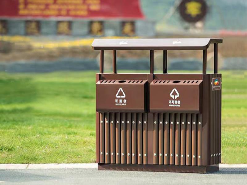 HZFY-GMJH87钢木结合垃圾桶