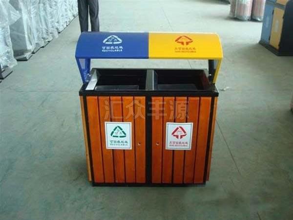 GMJH14钢木结合垃圾桶