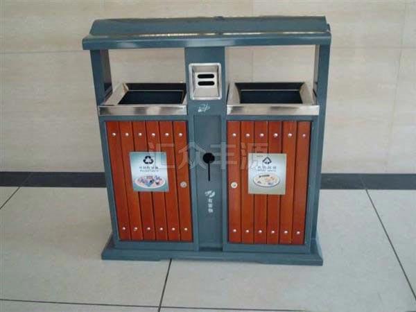GMJH15钢木结合垃圾桶