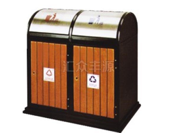 GMJH23钢木结合垃圾桶
