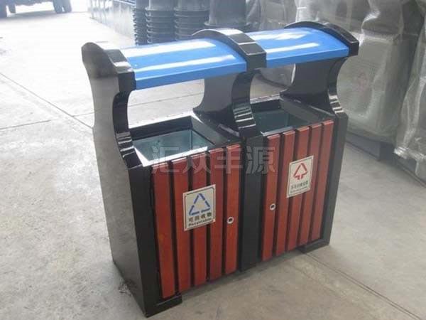 GMJH26钢木结合垃圾桶
