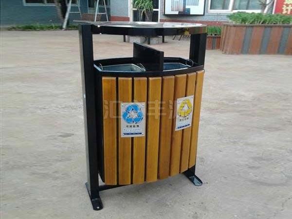 GMJH33钢木结合垃圾桶
