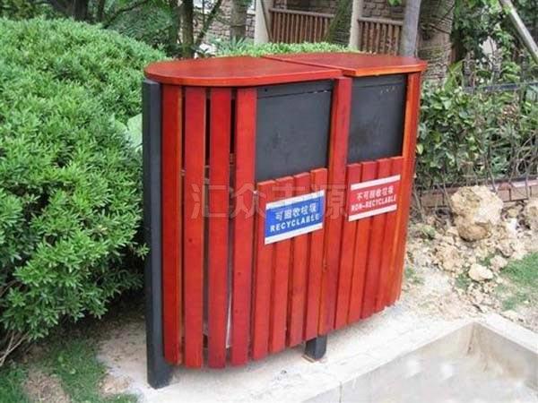 GMJH35钢木结合垃圾桶