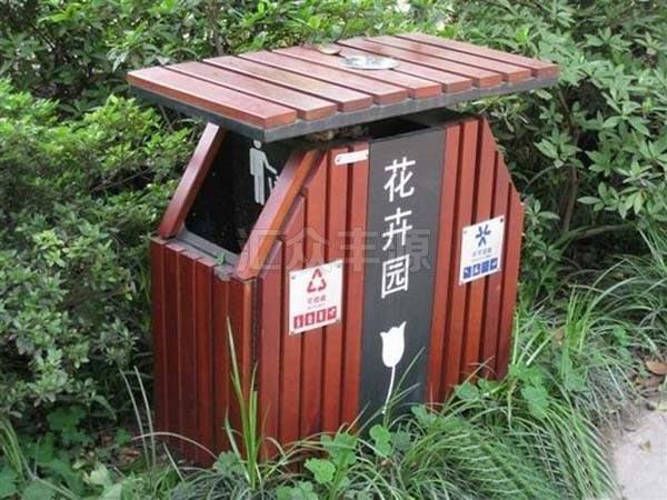 GMJH41钢木结合垃圾桶