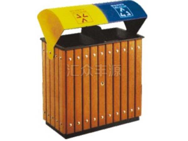 GMJH52钢木结合垃圾桶