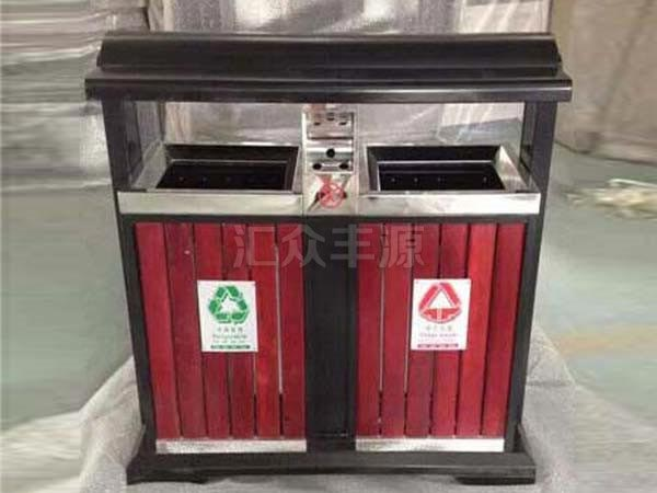 GMJH74钢木结合垃圾桶
