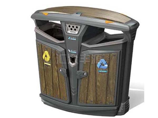 GMJH76钢木结合垃圾桶