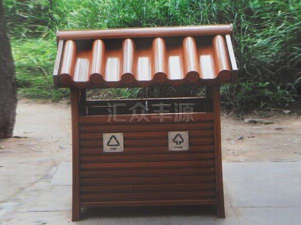GMJH86钢木结合垃圾桶