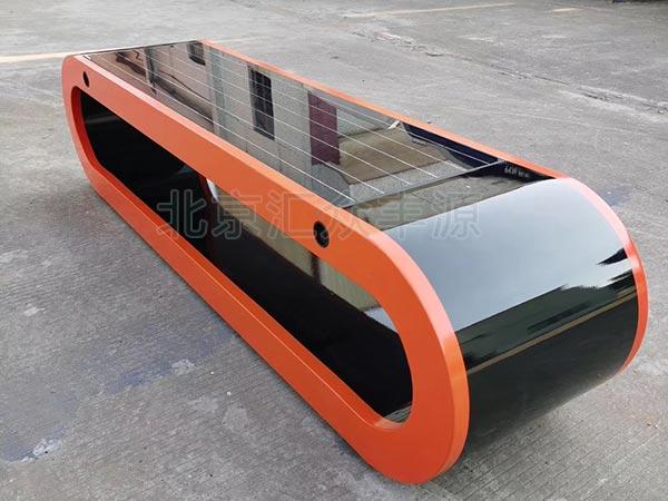 北京某购物广场太阳能座椅项目案例