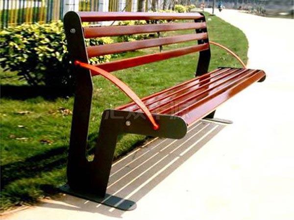 公园户外休闲座椅由三种材质的椅脚